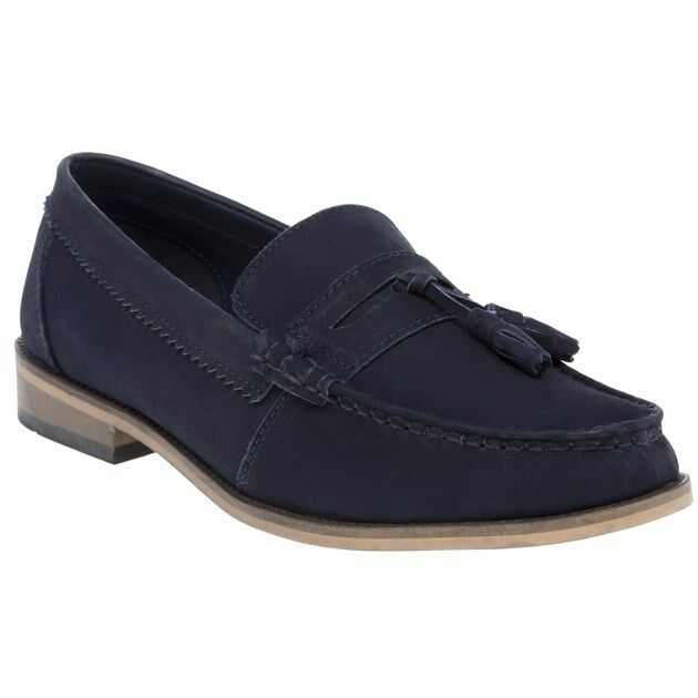 New Mens Lambretta Blue Tassle Loafer Nubuck Shoes Loafers And Slip Ons On