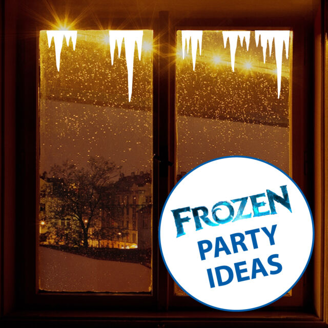 FROZEN Birthday Party Decoration ICICLES Window Stickers