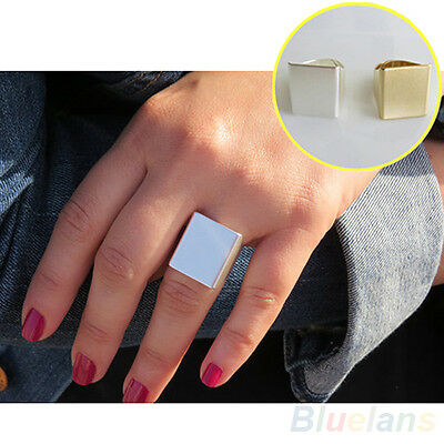 Women's Posh Gift Jewelry Punk Style Cool Simple Design Square Band Ring