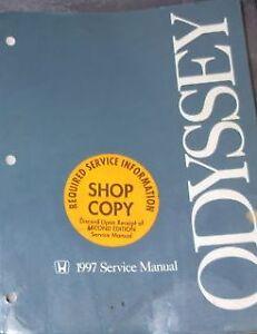 1997 HONDA ODYSSEY VAN Service Repair Shop Manual BRAND ...