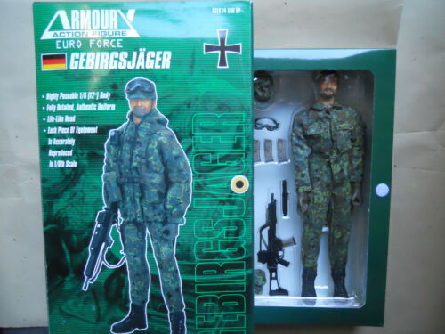 "1//6 ACTION FIGURE FIGURINE 12 /"" VINYL  GEBIRGSJÄGER  FULL ACCESSORY MINT IN BOX"