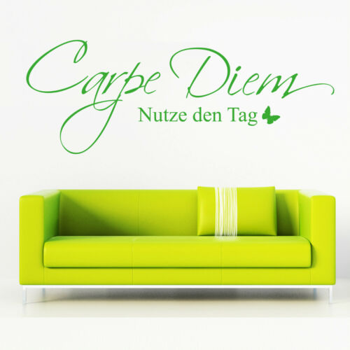 Wall Tattoo Carpe Diem taking advantage of the day from 23,90 € with Butterfly Wall Sticker