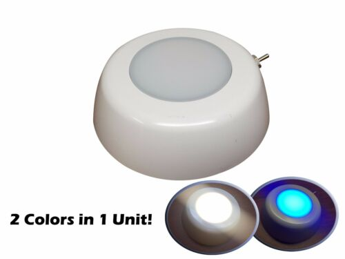 Pactrade Marine Boat Warm White & Blue LED Ceiling Light Glare Free Lens