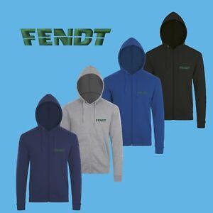 Zippé À Hoodie Sweat Homme Logo Fendt Shirt Capuche Brodé Éclair Hfq10Cw