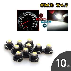 10X-White-T4-7-1SMD-Instrument-LED-Light-Bulb-Neo-Wedge-Panel-Gauges-Lamp-12mm