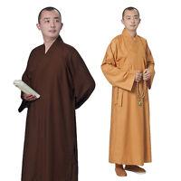 Cotton & Linen Kung Fu Shaolin Monk Robe Lay Master Zen Buddhist Meditation Gown