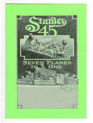 Stanley 45 Combination Plane Manual
