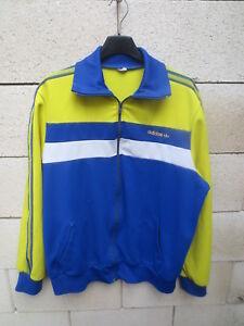 Détails sur Veste ADIDAS vintage 80's Trefoil jacket tracktop jacke FC SOCHAUX giacca L XL
