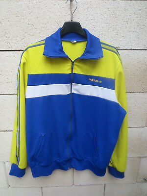 Veste ADIDAS vintage 80's Trefoil jacket tracktop jacke FC SOCHAUX giacca L XL | eBay
