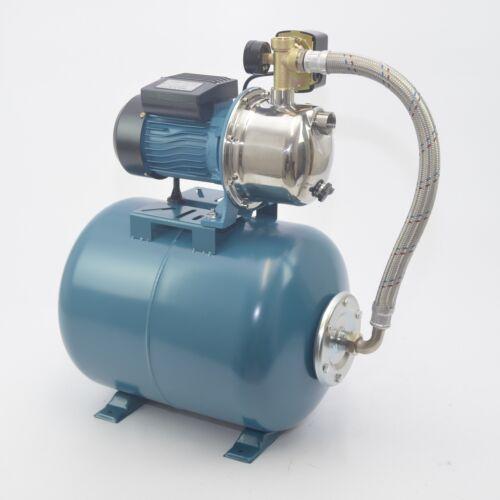 5 bar Hochwertiges 50 L Hauswasserwerk Hauswasserautomat Gartenpumpe 1,1kW