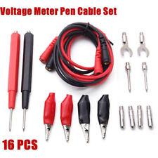 16pcs Multifunction Digital Multimeter Test Lead Probes Voltage Meter Cable Usa