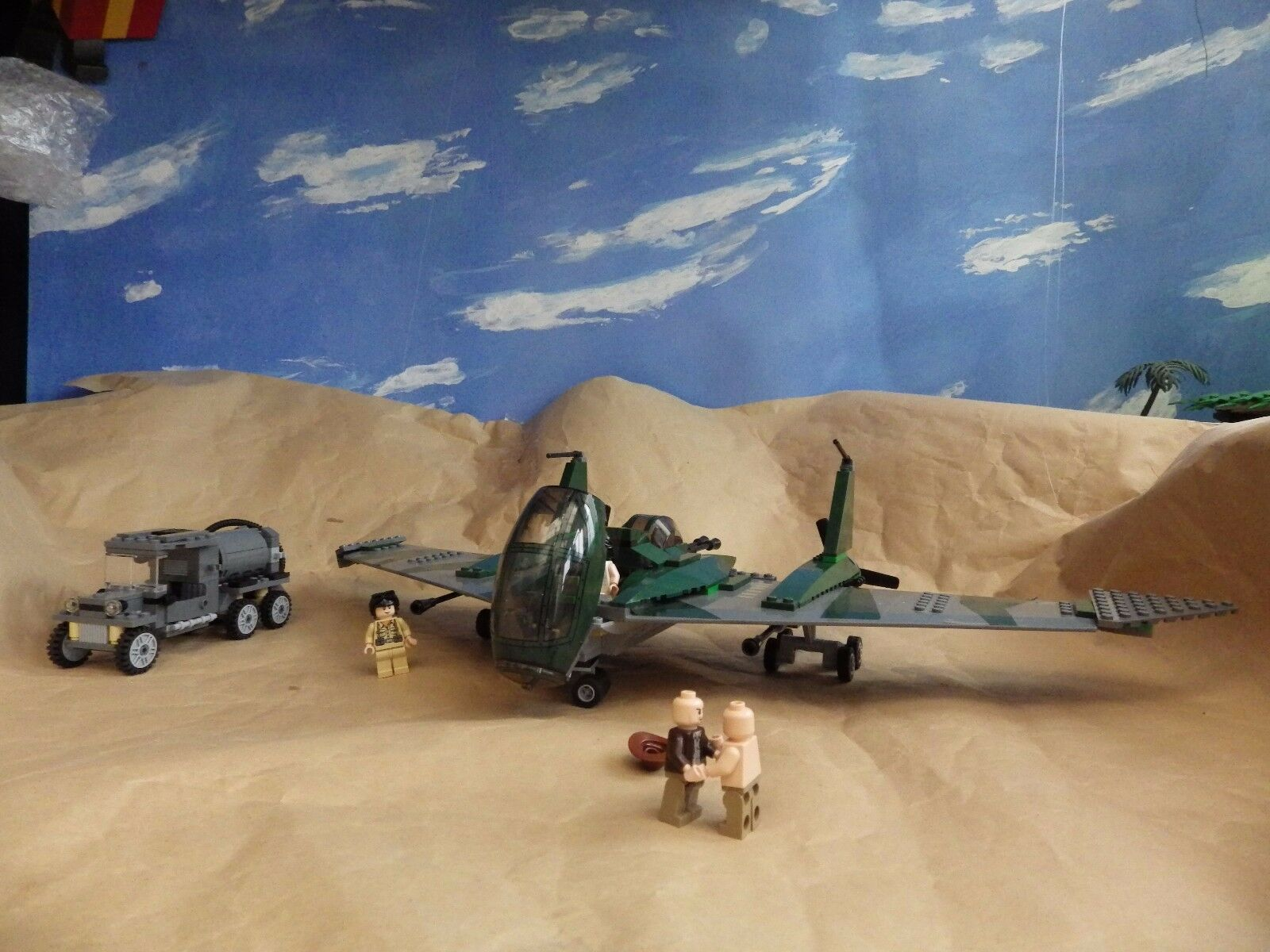 LEGO Indiana Jones 7683 Fight on the Flying Wing 100% complete