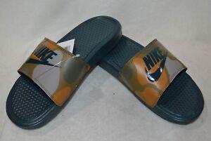 Nike-Benassi-JDI-Print-Midnight-Spruce-Men-039-s-Slide-Sandals-9-10-11-12-13-14-NWB