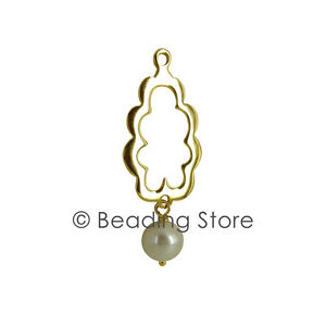 NEW-Pandora-Genuine-14k-Gold-Pearl-Compose-Ear-Pendant-Earrings-250405P-RRP-365