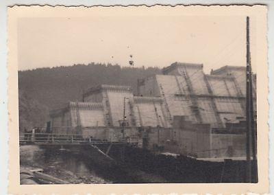 (f15225) Orig. Foto Bau Einer Staumauer, Unbekannt 1930er 100% Original