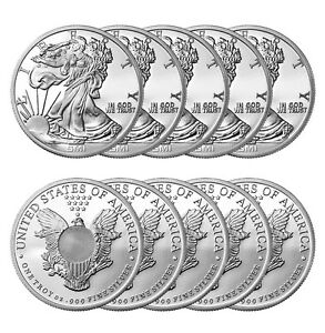 ON SALE 1 oz Sunshine Walking Liberty Silver Round New Lot of 10