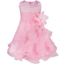 f73dd88f5a6dd Flower Girl Toddler Princess Dress Party Pageant Wedding Organza Tutu  Dresses