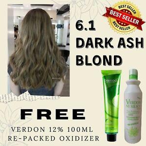 Bremod Hair Color SET 6.1 + Verdon 12% 100ml Re-packed Oxidizer FREE