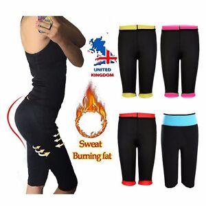 ccbea49116 UK Women Slimming Pants Hot Thermo Neoprene Sweat Yoga Sauna Body ...