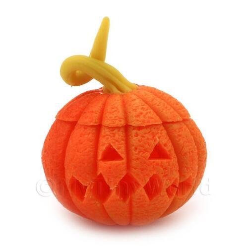 Dolls House Miniature Carved Pumpkin