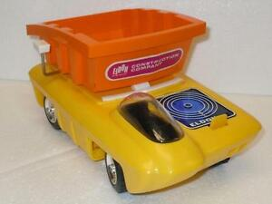 Eldon-Battery-Operated-Construction-Company-Dump-Car-Truck-Vehicle-Futuristic-VG