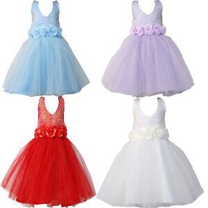 395f2c9f439b1 robe demoiselle d honneur filles tutu soirée bleu rouge ivoire lilas ...