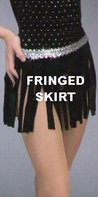 She's A Lady Dance Costume Fringed Skirt Only Jazz Tap Child Small and Medium