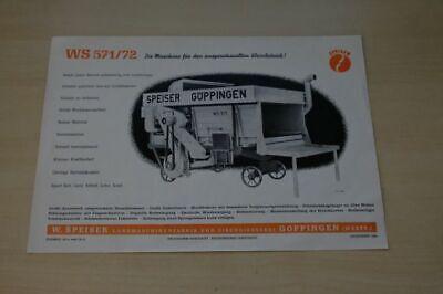 199963) Speiser - Dreschmaschine Ws 571/72 - Prospekt 194?