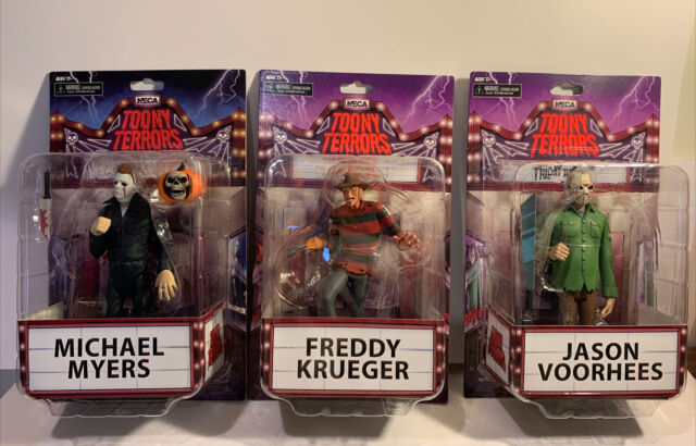 "Neca Toony Terrors LOT of 3 6"" Action Figure Jason Freddy Michael NEW"