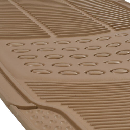 4PC Rubber Liner for Hyundai Sonata Floor Mats Beige All Weather Semi Custom Fit