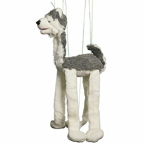 Large Grey Wolf Marionette WB968 38  tall Easy to Use Sunny Puppet