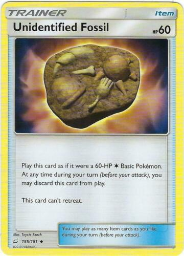 Unidentified Fossil x4 Uncommon 155//181 Team Up Pokemon