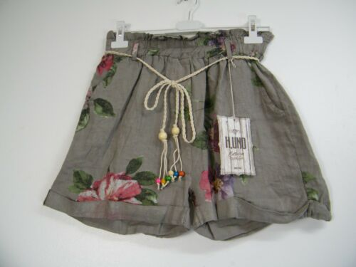 Regular Lagen look  Italian 100/% Linen  Shorts side pockets  8 Cols  One Size