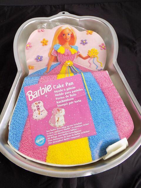 Barbie Birthday Cheerleader Ballerina Cake Pan Insert Wilton 2105