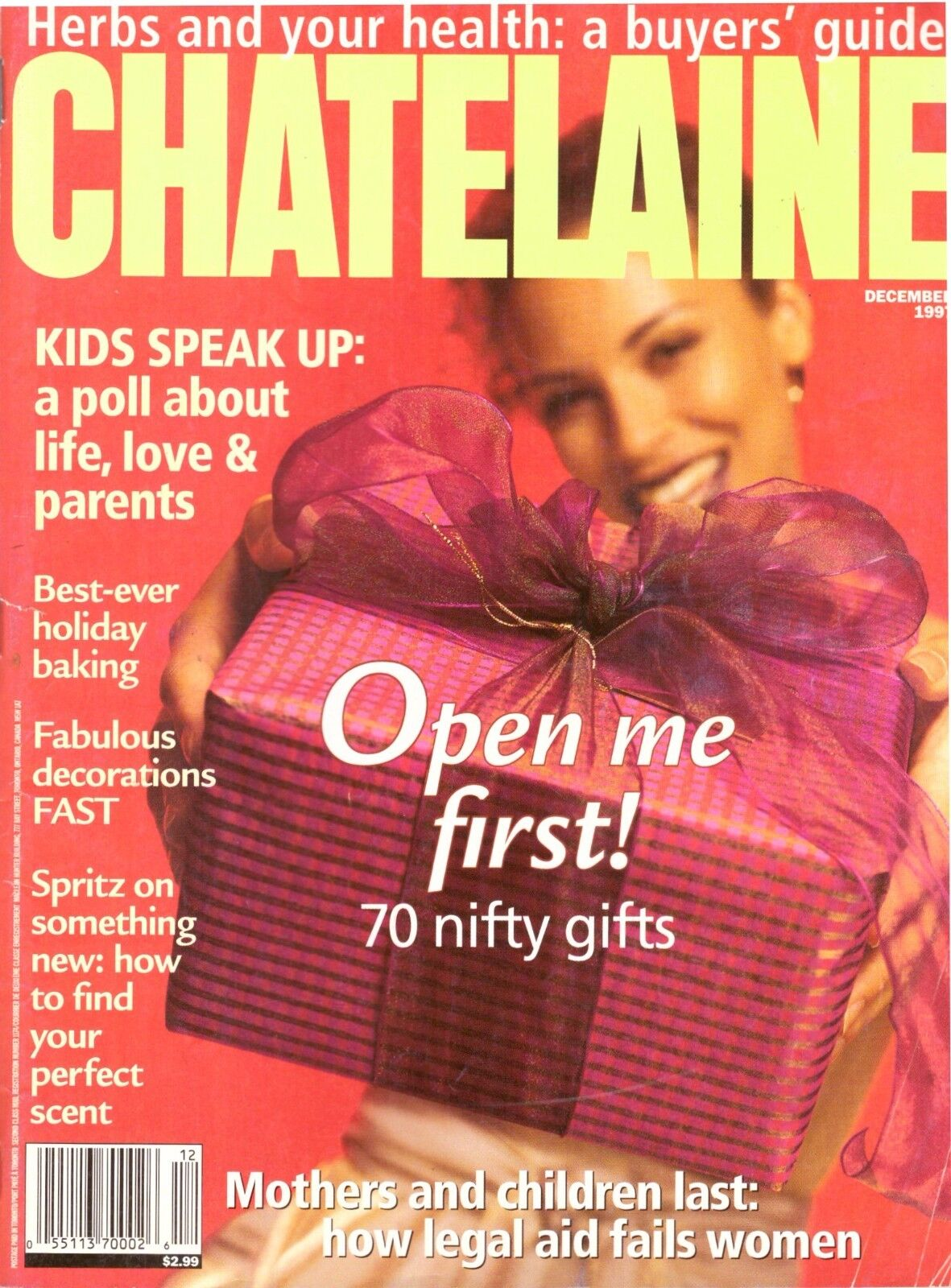 1997 Chatelaine Magazine Fashion Fitness Recipes Herbs Christmas Legal Aid 90s 1