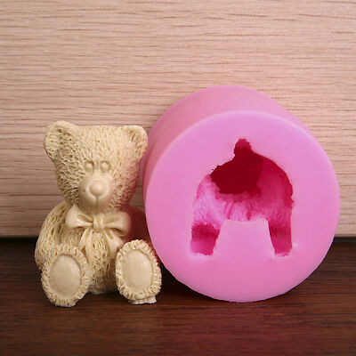 3D Silicone Bear Fondant Cake Mold Chocolate Cookie Decorating Baking Mould DIY