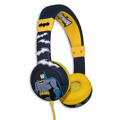 BATMAN Children's Headphones for ages 3-7 years - safe for small ears!