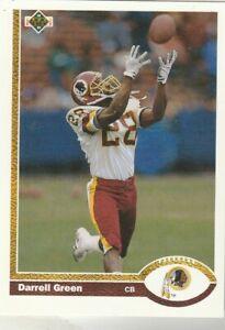 FREE-SHIPPING-MINT-1991-Upper-Deck-438-Darrell-Green-Redskins-PLUS-BONUS-CARDS