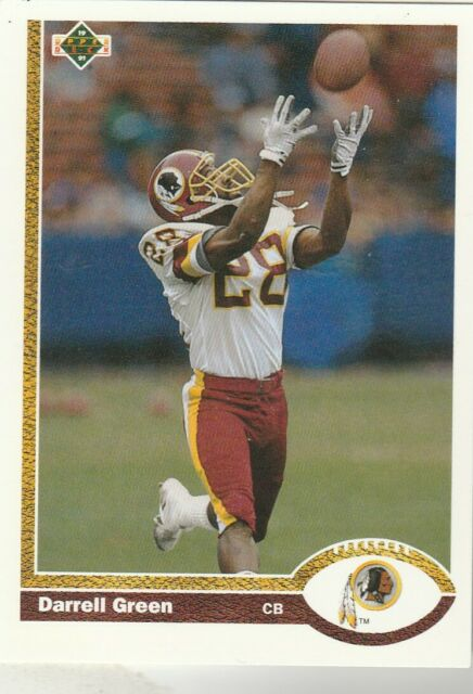 FREE SHIPPING-MINT-1991 Upper Deck #438 Darrell Green Redskins PLUS BONUS CARDS
