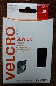 VELCRO-SEW-ON-20mm-x-1m-HAND-SEW-OR-MACHINE-SEW-BLACK-60299