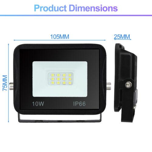 100W LED Fluter mit Stativ IP66 Strahler Flutlicht Lampe Gartenstrahler 2x10W