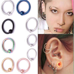 Details about Fashion Surgical Steel Nose Ring Hoop Ear Small Cartilage  Tragus Piercing