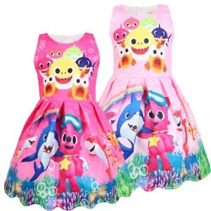 Girls Skater Dress Kids Rainbow Baby Toddler Song Casual Party Birthday Dresses