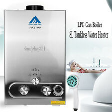 8L 2GPM Tankless Hot Water Heater Instant Propane LPG Gas Boiler CE