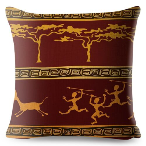 African Pattern Geometric Cushion Cover for Sofa Home Decorative Printed Striped