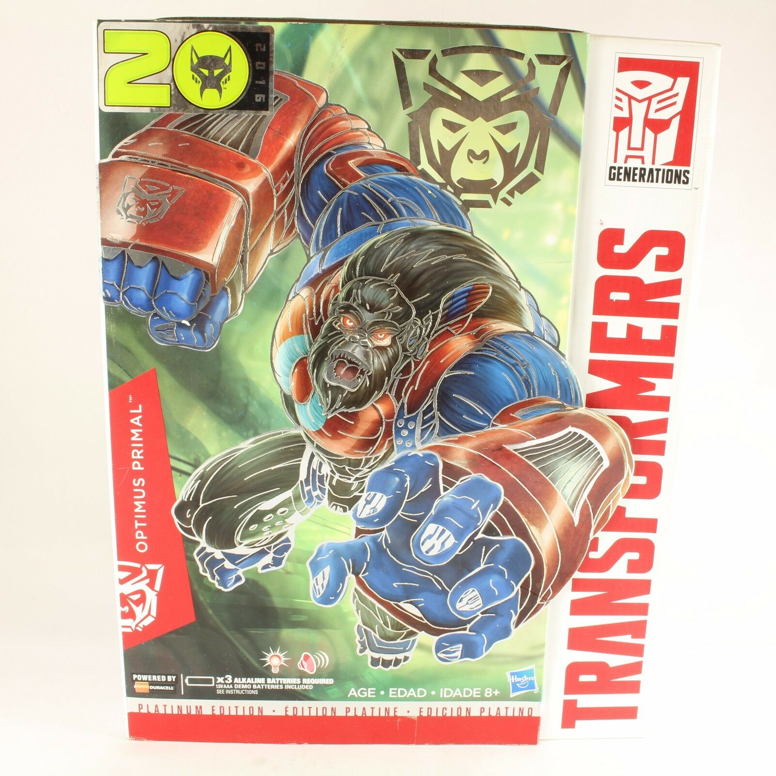 Transformers Masterpiece Platinum Edition Optimus Primal Boxed Complete