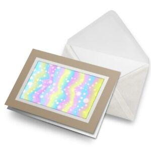 Greetings-Card-Biege-Pretty-Pastel-Rainbow-Unicorn-Girls-16791