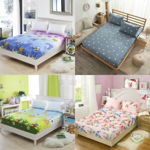 Flat-Fitted-Bed-Sheets-Animal-Print-Bedding-Cover-King-Queen-Size-Home-Decor