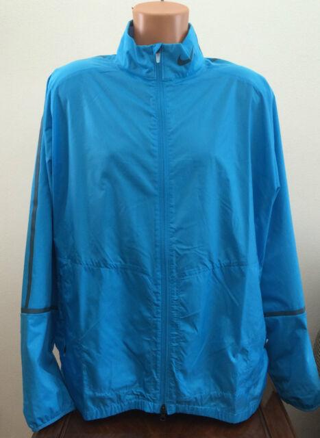 6923baa78a Mens Size 2XL XXL Nike Golf Light Blue Wind Windbreaker Zip Jacket 582788  438