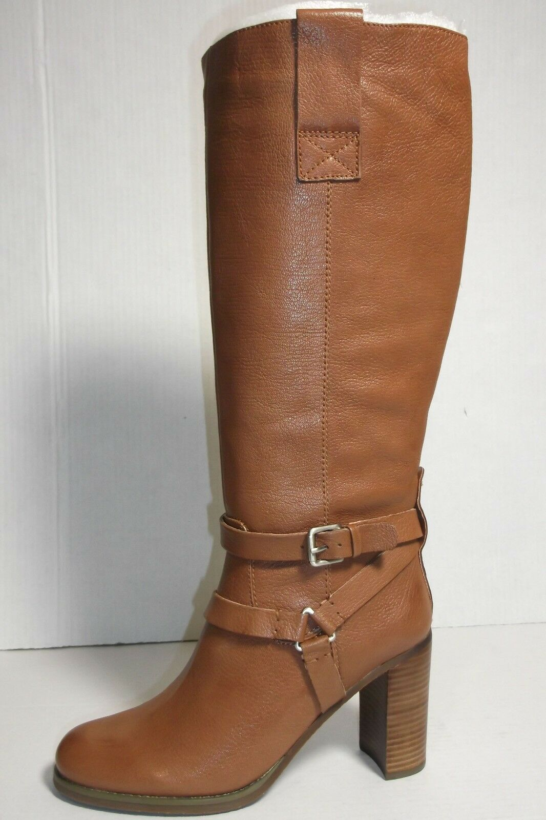 BANDOLINO BDAISEL WOMENS MEDNATURAL LEATHER  TALL BOOTS SIZE 9.5M